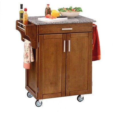 Cheap Home Styles 9001-0063 Oak Kitchen Cart with Grey Granite Top (9001-0063)