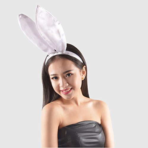 White Easter Bunny Ears Headband