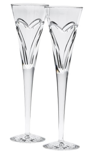 Waterford Wishes Love and Romance Flutes, Set of 2