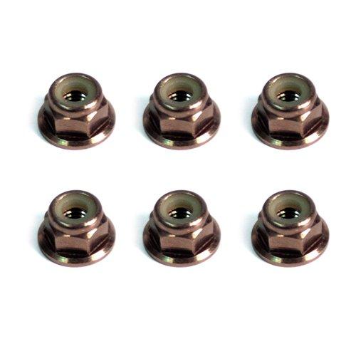 Atomik RC M4 Nylon Lock Nut Aluminum 6pcs