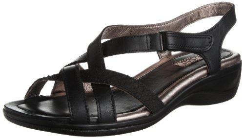 ECCO Sensanta Cross Strap 女式真皮平底凉鞋图片