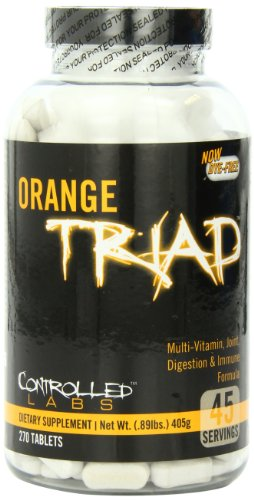 Controlled Labs Orange Triad: Multivitamin, Joint, Digestion, And Immune, 270-Count Bottle