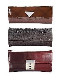 Oleva Ladies Clutch Bags combo set of 3 ODC-008