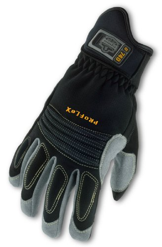 ProFlex 740 Fire and Rescue Rope Glove, Black, Large