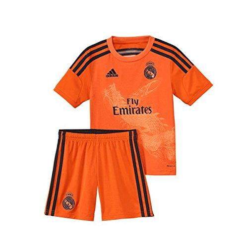 adidas Performance REAL MADRID 3 GOAL KEEPER MINIKIT Jersey de Futbol Portero Soccer Naranja para Ninos Climacool