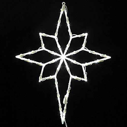Vickerman Lighted LED Star of Bethlehem Christmas Window Silhouette Decoration, 18