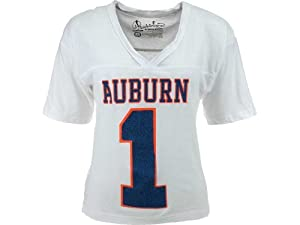 Buy Auburn Tigers NCAA Ladies Xena Crop T-Shirt Jersey by NCAA