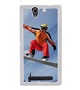 Ice Board Skating 2D Hard Polycarbonate Designer Back Case Cover for Sony Xperia C3 Dual :: Sony Xperia C3 Dual D2502