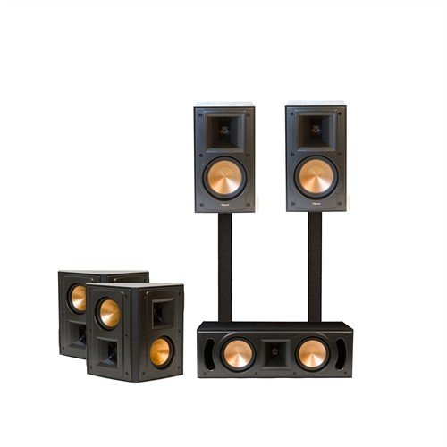 klipsch rb 51ii rc 52ii rs 42ii surround sound speaker package black home theater speaker. Black Bedroom Furniture Sets. Home Design Ideas