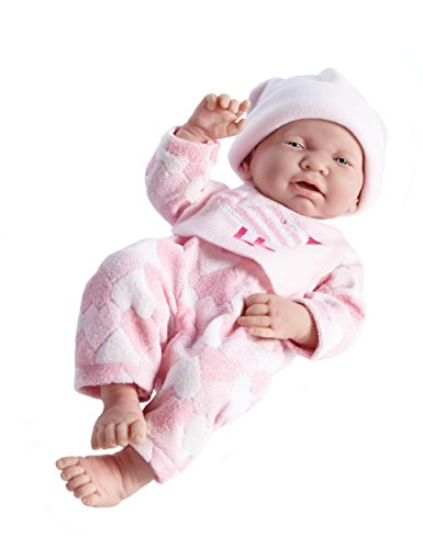 "La Newborn Boutique - Realistic 17"" Anatomically Correct Real Girl Baby Doll - All Vinyl ""Pink BIRD"" Designed by Berenguer - Made in Spain"