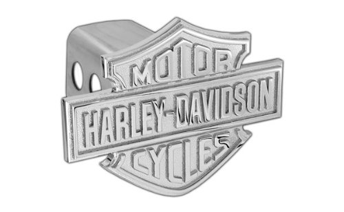 Harley-Davidson Trailer Hitch Cover Plug With 3D Monotone Bar & Shield (Metal Trailer Hitch Plug compare prices)