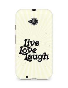 Amez Live Love Laugh Back Cover For Motorola Moto E2