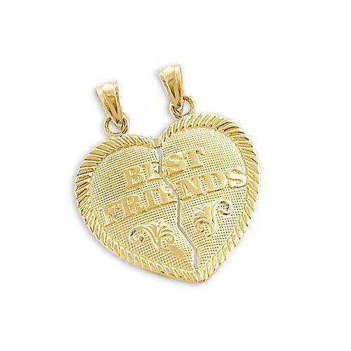 14k Yellow Gold Best Friends Breakable Charm Pendant