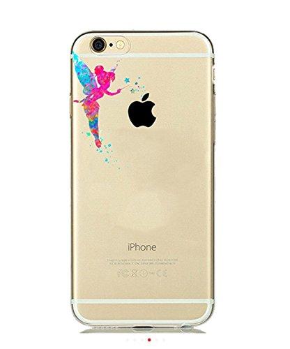 Phone-Kandy-Cassa-del-telefono-per-iPhone-acquerello-arte-libera-trasparente-ultra-sottile-copertura-Scelta-di-Hard-Shell-o-TPU-iPhone-7-Plus-Molle-del-silicone-TPU-Tinkerbell