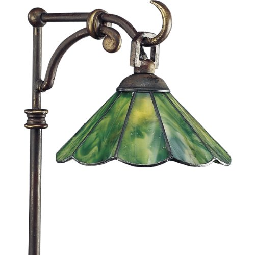 Progress Lighting P5271-20 Landscape 12-Volt Glass Top Tiffany Path Light with Tiffany Art Glass, Antique Bronze