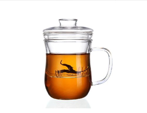 Moyishi Glass Tea Cup Glass Infuser And Lid