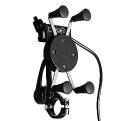 Speedwav Bike X-Grip Mobile Phone Holder with USB Charger-Royal Enfield Thunderbird 350 Type 2