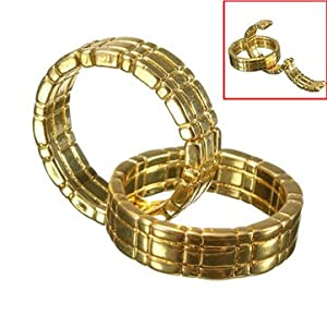Magic Trick Gold Ring Close Up Linking Finger Ring
