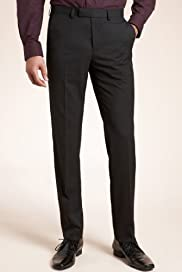 Limited Collection Flat Front Slim Leg Eveningwear Trousers [T15-8120-S]