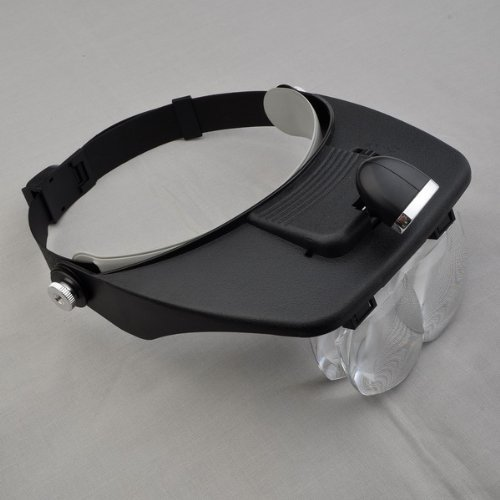 Led Light Headband Head Glasses Magnifier Reading Antiques Jewelry Stamp Repair Tools 4 Lenses