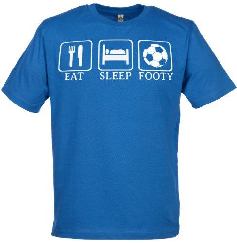 Eat, Sleep, Footy Men's Novelty Funny T-Shirt