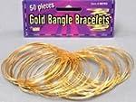 Gold Bangle Bracelets (Pack of 50) -...