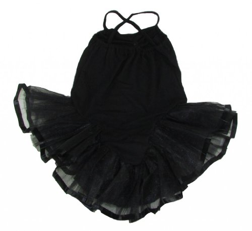 Dance Or Ballet Skirted Leotards For Girls (2-3T, Black) front-352090