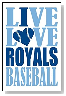 Live Love I Heart Royals Baseball lined journal - any occasion gift idea for Kansas City Royals fans from WriteDrawDesign.com