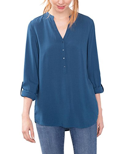 ESPRIT 086EE1F032, Camicia Donna, Blu (Petrol Blue), L