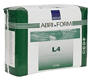 Abena Abri-Form Briefs, X-Plus, Large L4, Pack/12 by Abena