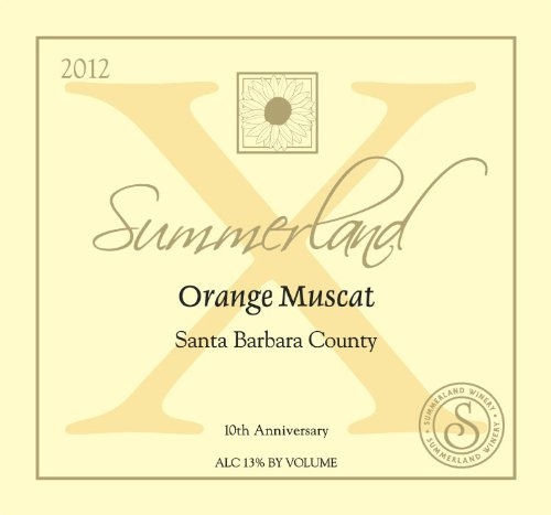 2012 Summerland Winery Orange Muscat Santa Barbara County 750 Ml