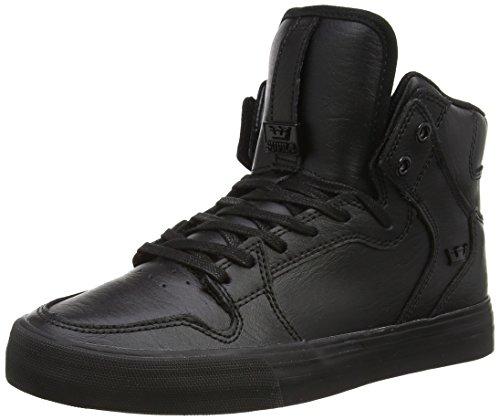 Supra VAIDER, Scarpe da Skateboard uomo Taglia scarpa, Nero (Schwarz (BLACK / BLACK - RED RCS)), 41 EU