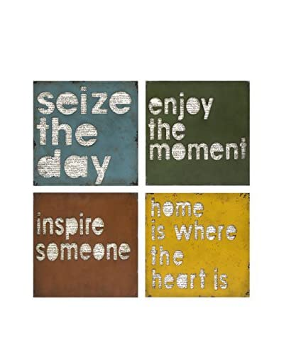 Set of 4 Inspirational Wall Plaques