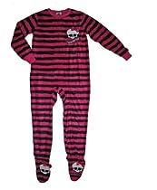 Monster High Girls Skullette Footed Sleeper Pajama (L (10/12))