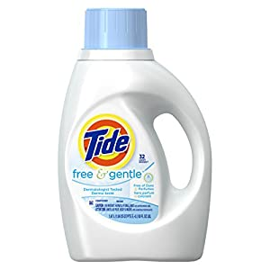 Tide 13885 50-Ounce Free & Gentle Laundry Detergent