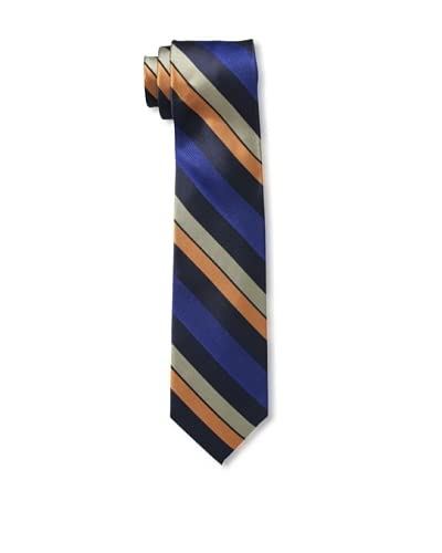 Ben Sherman Men's Wide Stripe Tie, Orange