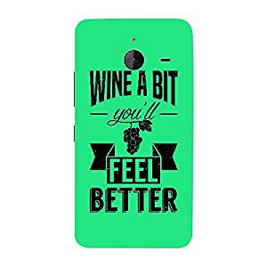 Skin4gadgets Awesome Wine & Dine Quotes, Pattern 13, Color - Dark Orange Phone Skin for LUMIA 635