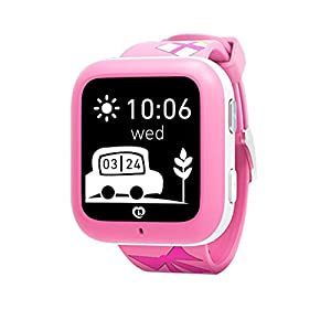 Smart Watch GPS Tracker with Phone Call miSafes Kid's Watcher Sports Monitor Security Google Map Tracker via Free App with Smartphone iPhone Samsung LG HTC Huawei Google Nexus 2G Network GSM sim Card (not included) Blue ¡­
