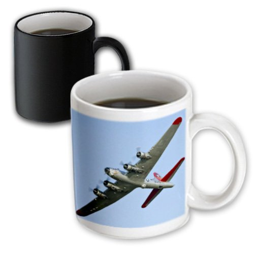 Danita Delimont - War Planes - B-17G Flying Fortress Aluminum Overcoat, War plane - US50 BFR0034 - Bernard Friel - 11oz Magic Transforming Mug (mug_97114_3)