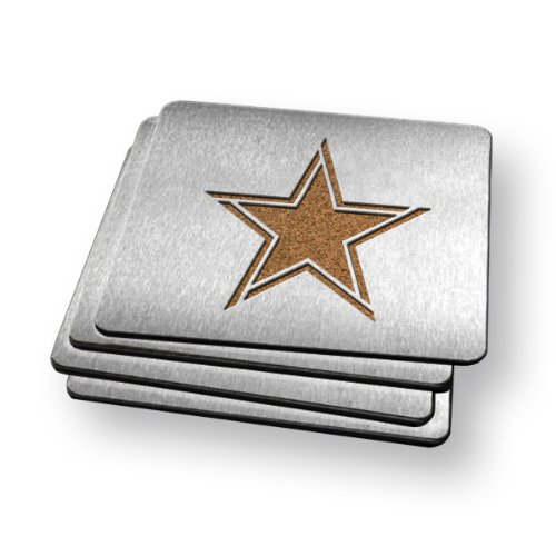 Sportula Products Boasters Stainless Steel Coasters, Dallas Cowboys at Amazon.com
