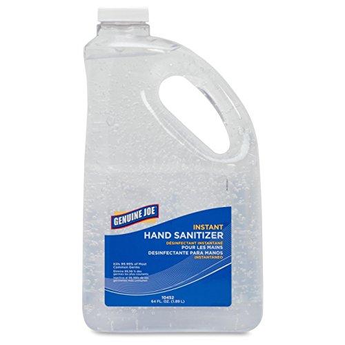 genuine-joe-gjo10452-moisturizing-hand-gel-sanitizer-2-qt-pump-bottle-clear