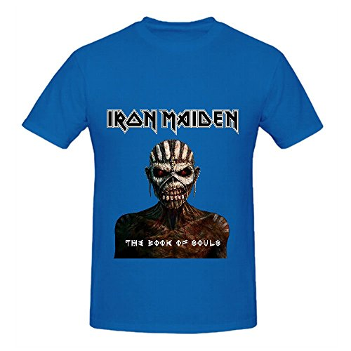 Iron Maiden The Book Of Souls Men T Shirts Crew Neck Short Sleeve Blue