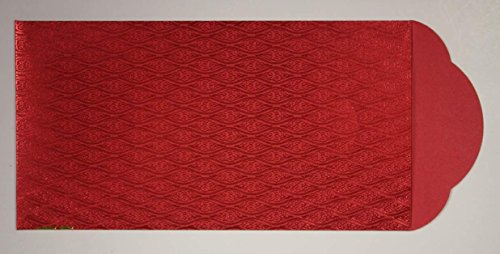 """Pack of 10 Deluxe LUCKY MONEY Red Envelopes CHINESE NEW YEAR Gift Packet 7""""x3.5"""""""