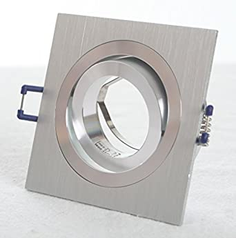 4er set einbaustrahler ral einbaurahmen aluminium geb rstet rechteckig gu10 mr16 fasssung. Black Bedroom Furniture Sets. Home Design Ideas
