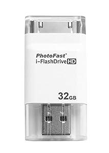 PhotoFast i-FlashDrive HD Flash Drive 32 GB for Apple iPhone 4 / 4S / 5 / iPad 2 / 3G / 4G / mini White