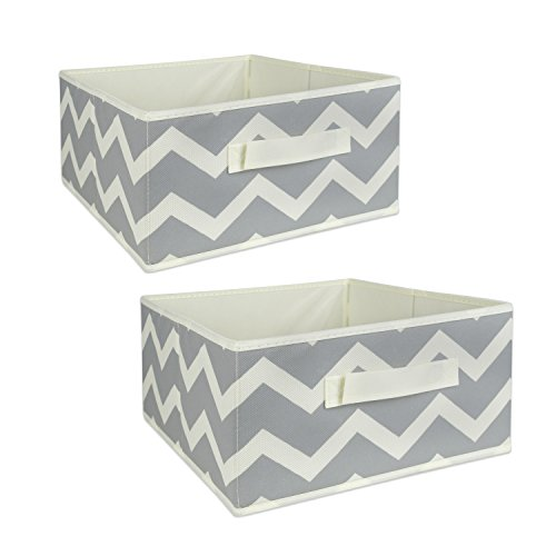 DII Foldable Fabric Storage Containers for Nurseries, Offices, Closets, Home Décor, Cube Organizers & Everyday Storage Needs, (Medium - 11 x 11 x 5.5