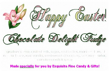 Happy Easter Lilly Chocolate Delight Fudge Box - 1 Pound (Gourmet,Exquisite Fine Candy & Gifts,Gourmet Food,Chocolate,Fudge)