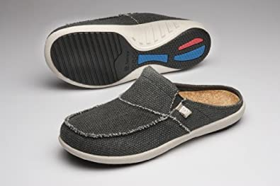Spenco Siesta Slide Mens Orthotic Shoes Charcoal - 7