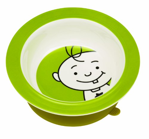 Sugarbooger Peek-A-Boo Suction Bowl, Kiwi Green front-790764