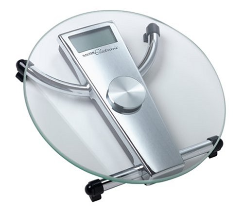 Cheap Salter 905 Extra Precision Round Electronic Glass Bathroom Scale, Chrome (B00006WNRT)